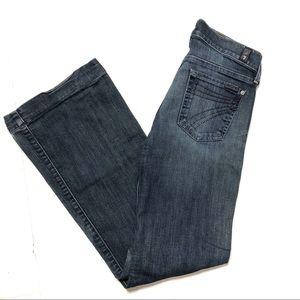 7FAM Dojo Flare Jeans Sz 26
